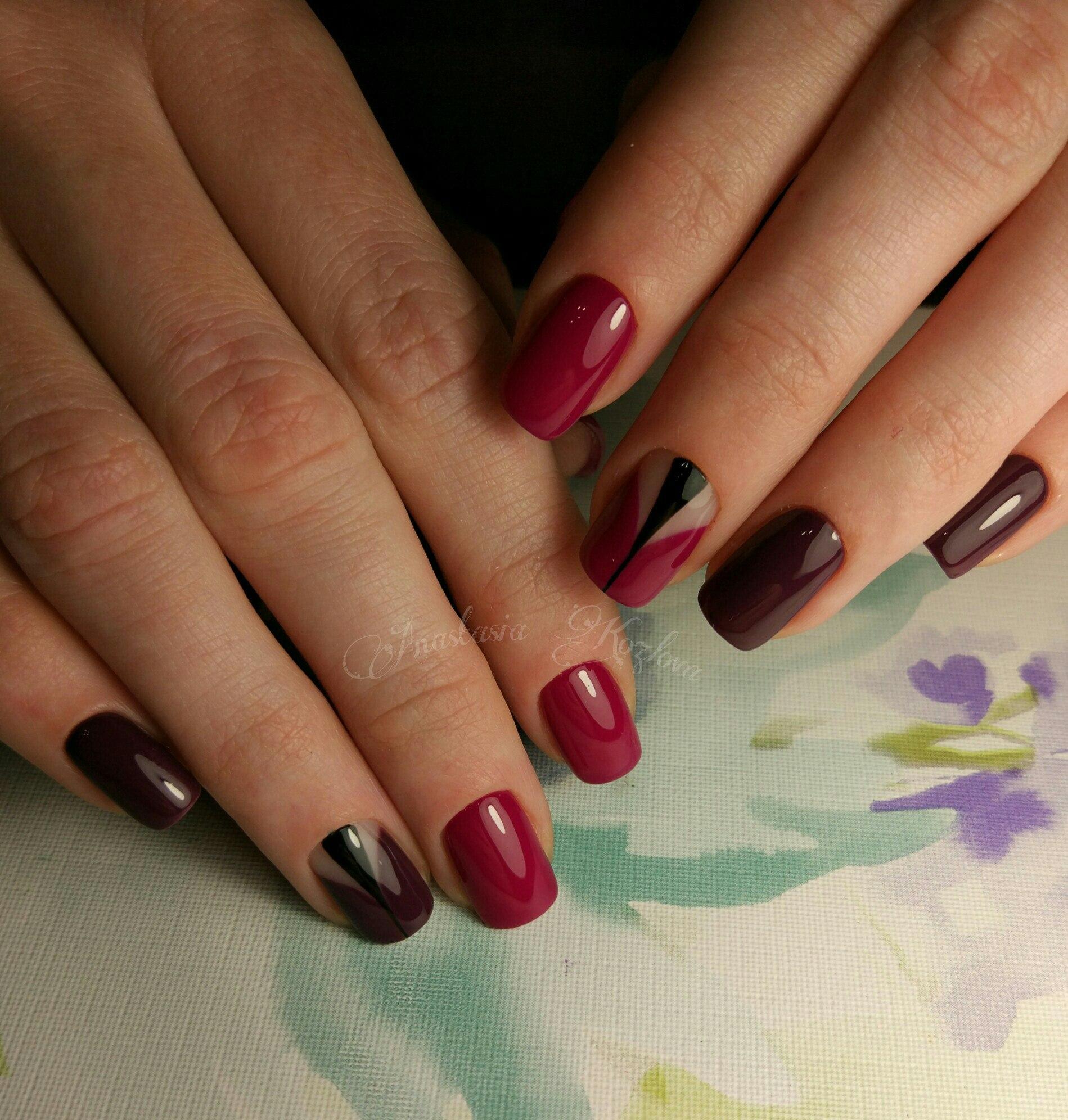 Дизайн ногтей гель-лаком 58