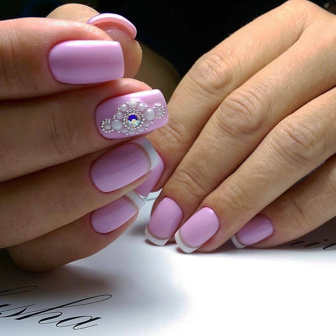 Дизайн с блестками для ногтей квадратной формы – Необычный дизайн ... | 1080x1080
