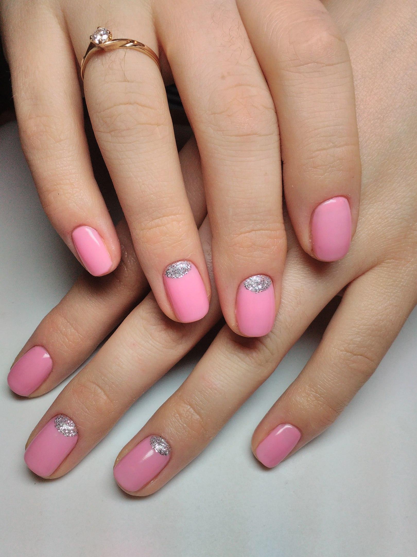 Нежные короткие ногти дизайн фото