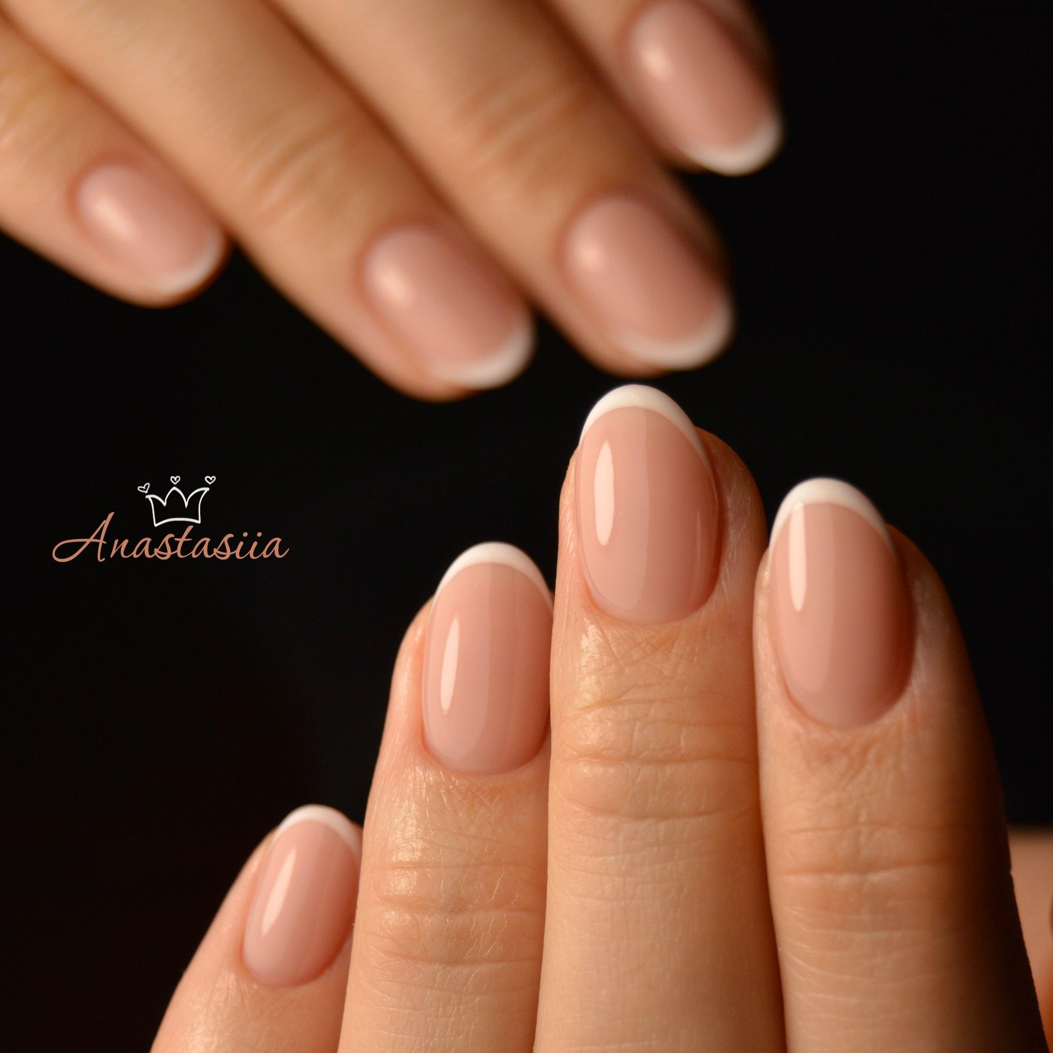 Миндальная форма ногтей фото короткие