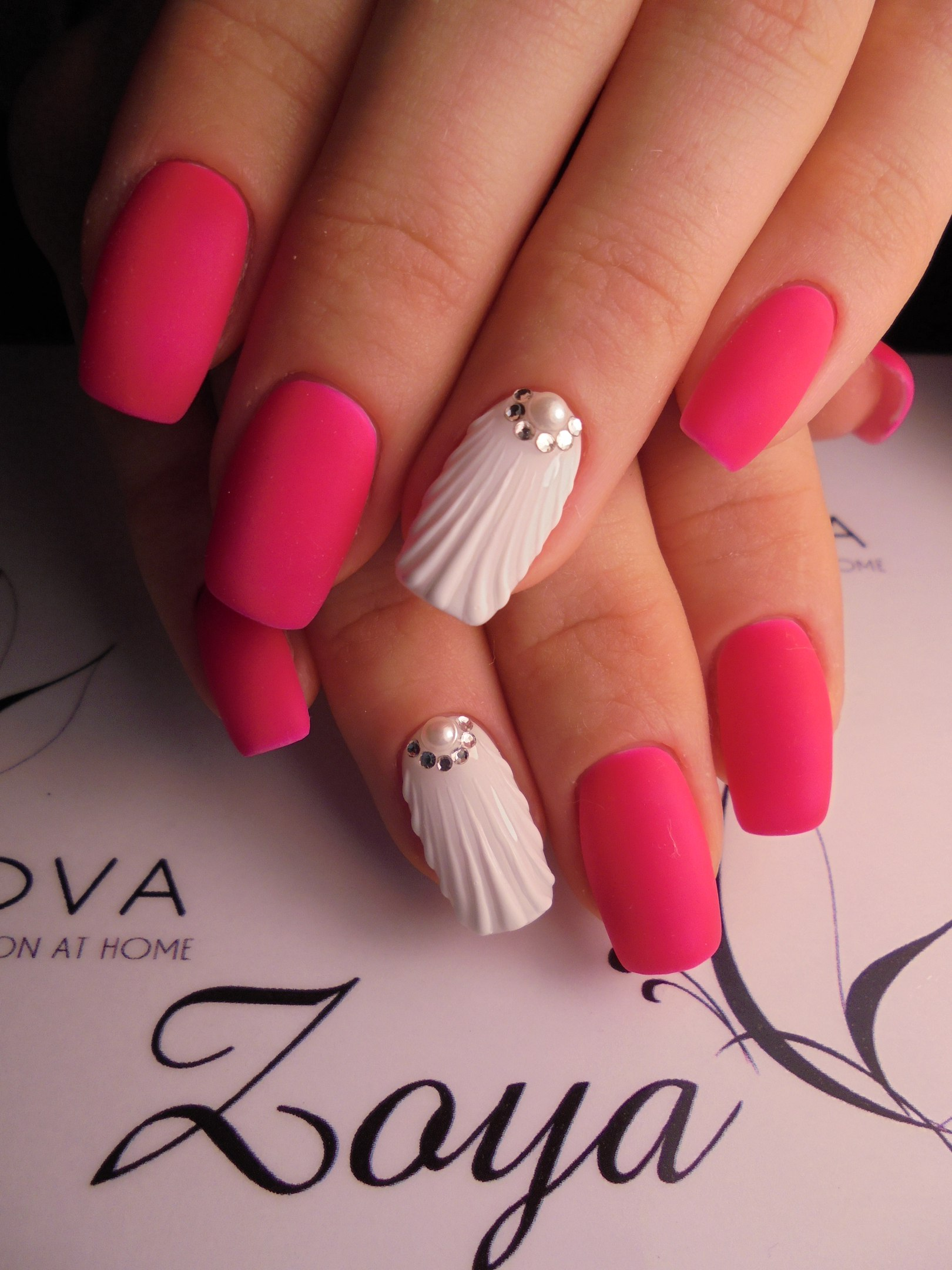 Дизайн «Ракушки» на ногтях гель-лаком 29