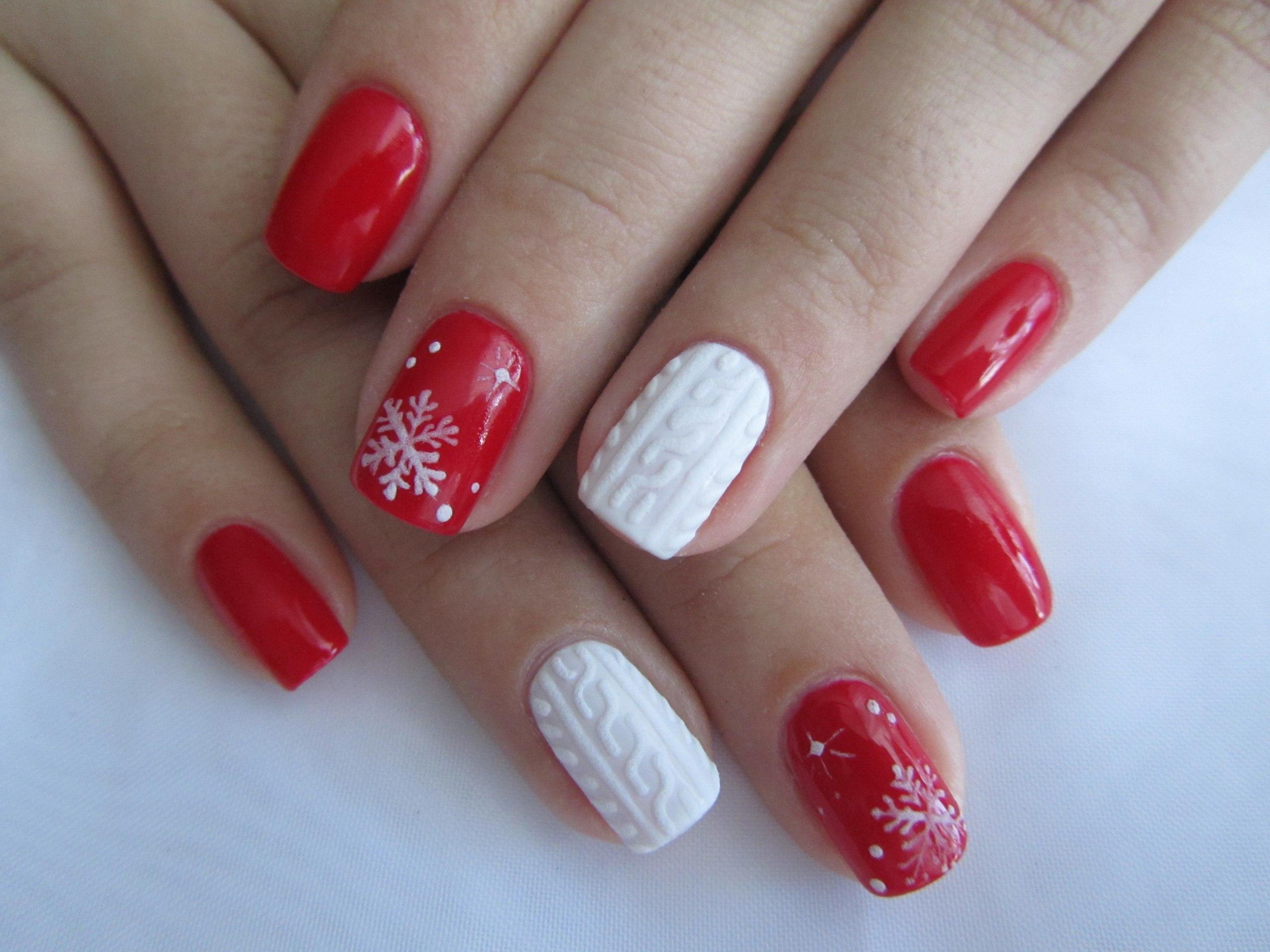 Гель лак для ногтей новогодние