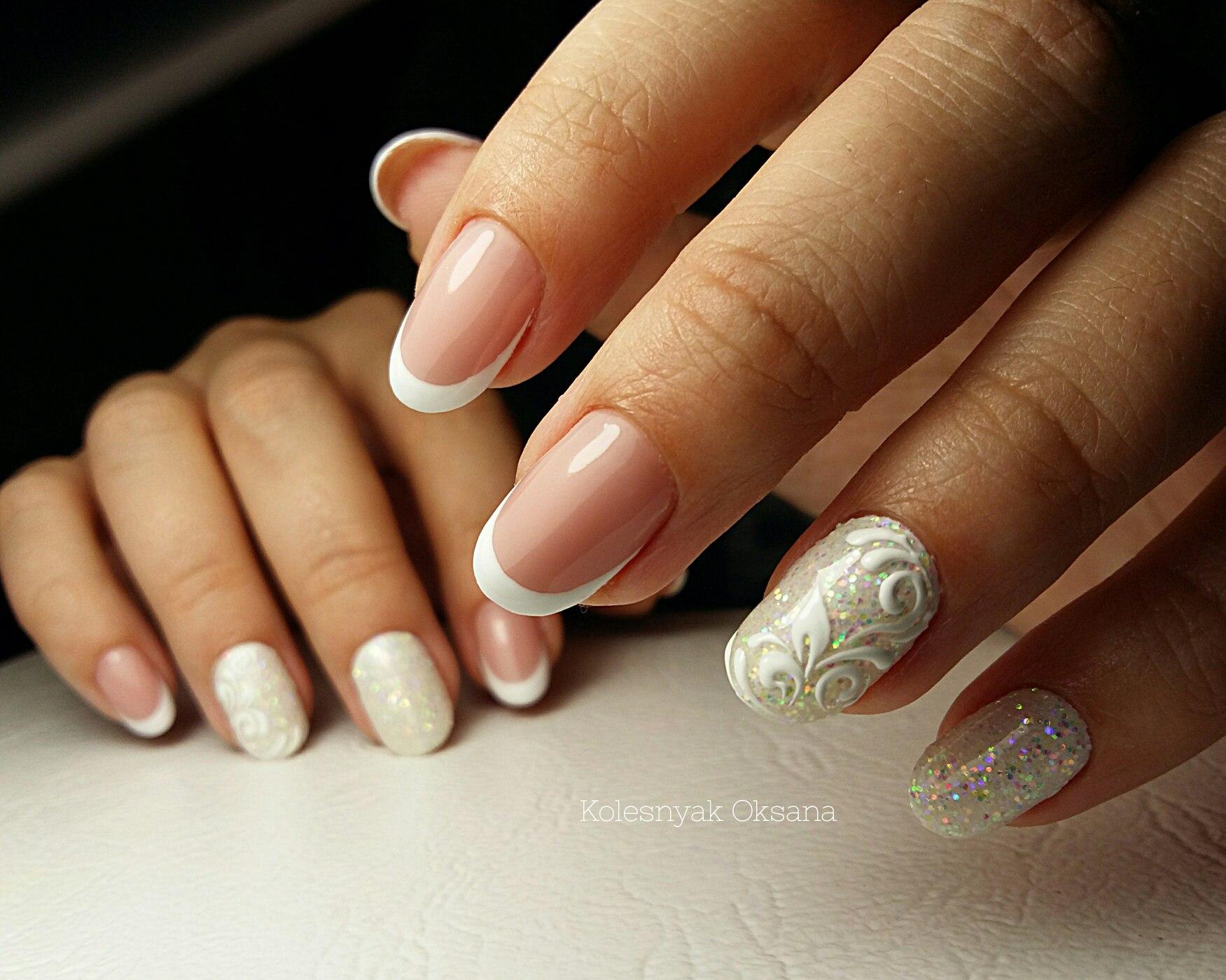 Дизайн ногтей светлый френч