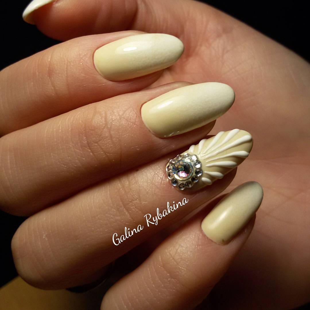 Дизайн «Ракушки» на ногтях гель-лаком 19
