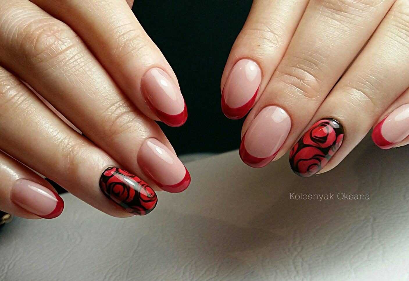 ногти нарощенные французский маникюр фото