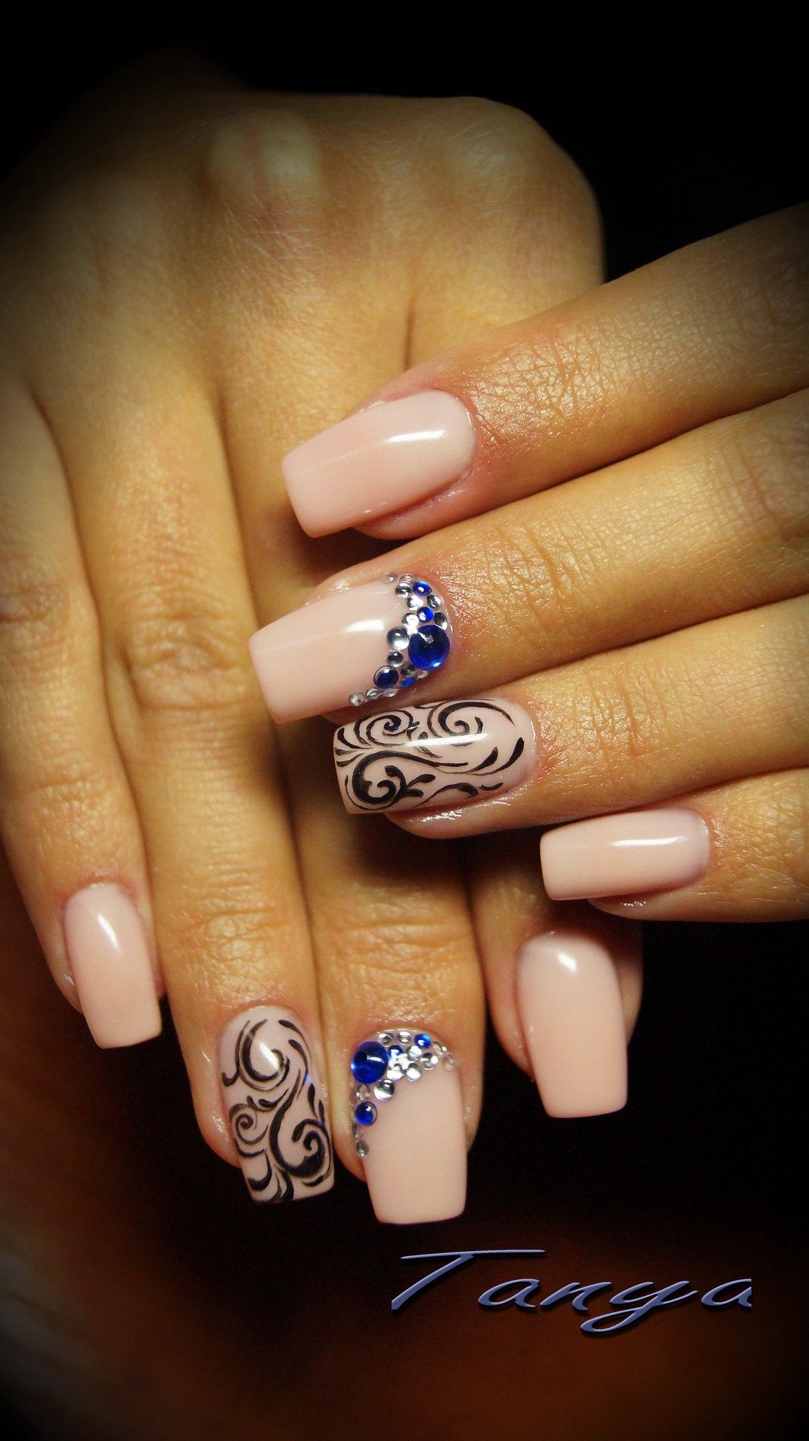 Нарощенные ногти на весну фото