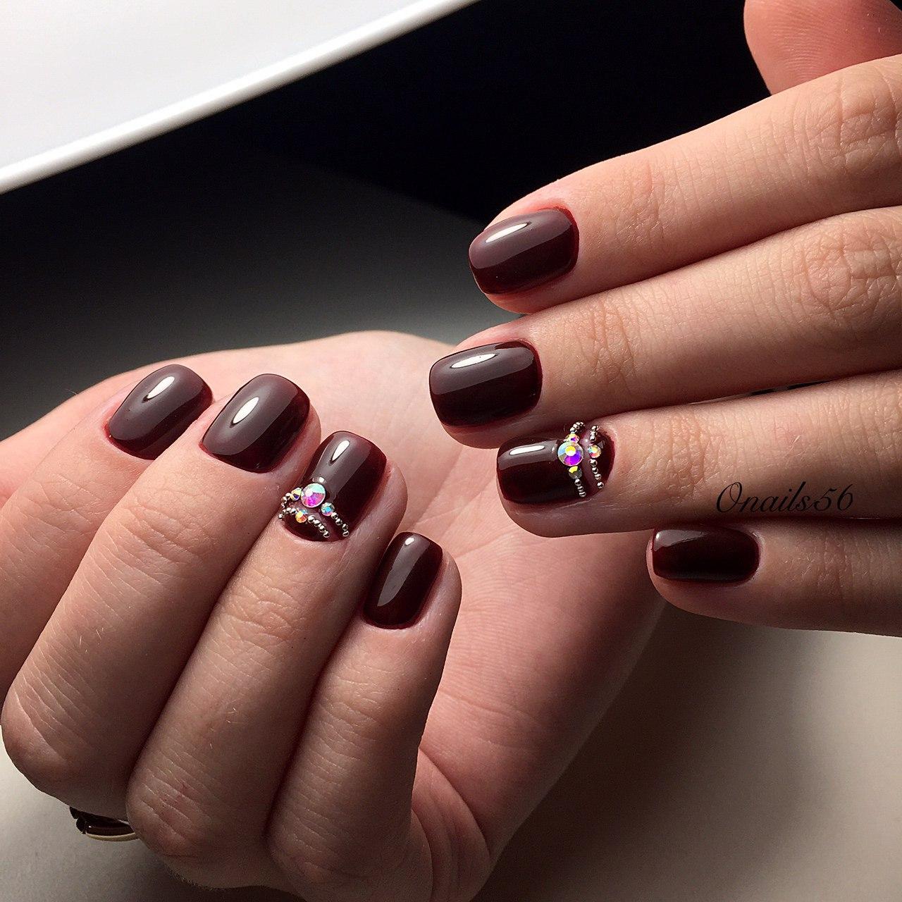 Ногти дизайн вишневый цвет