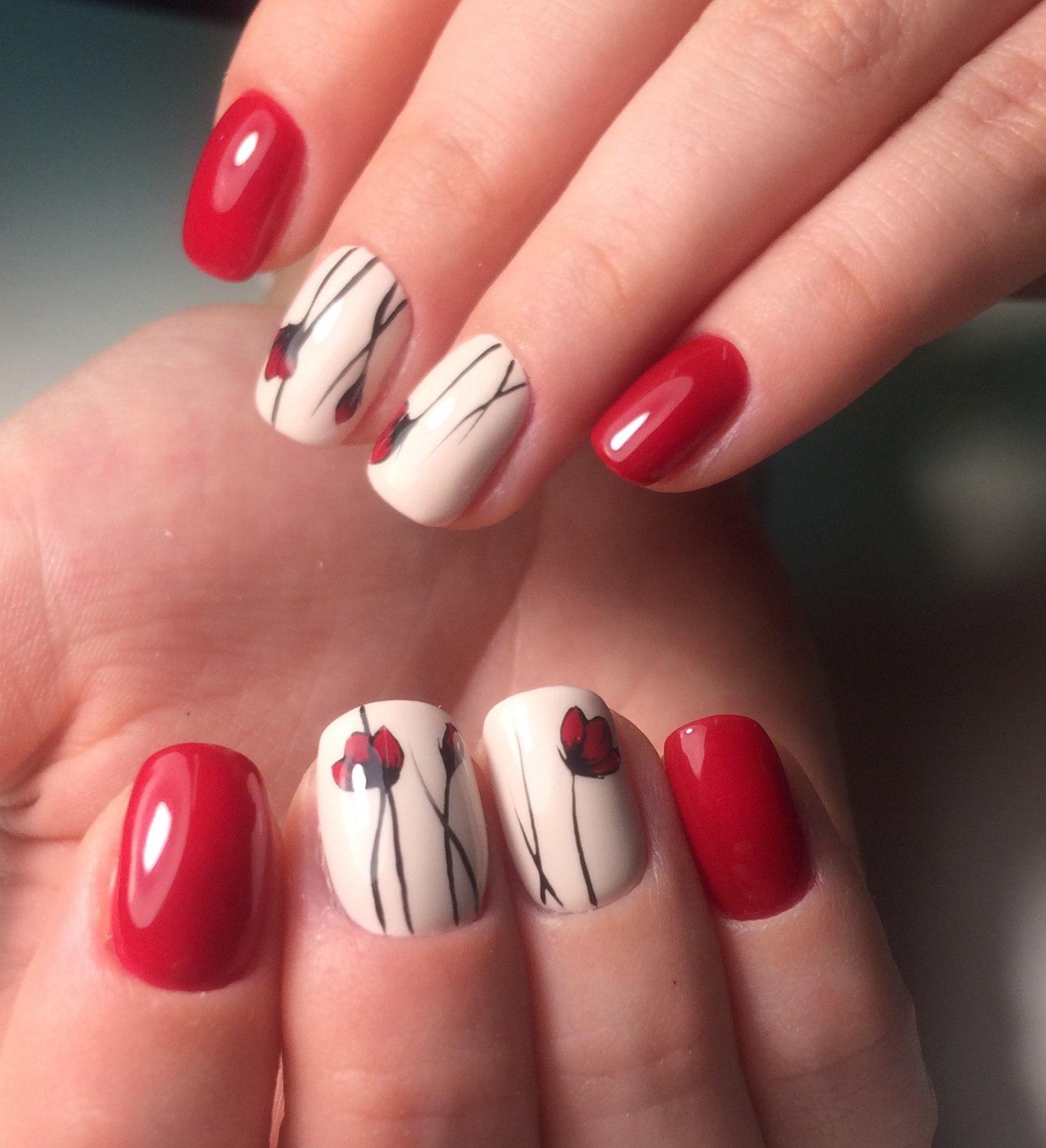 Красно белый шеллак дизайн