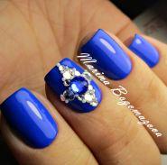 Ногти синие или голубые