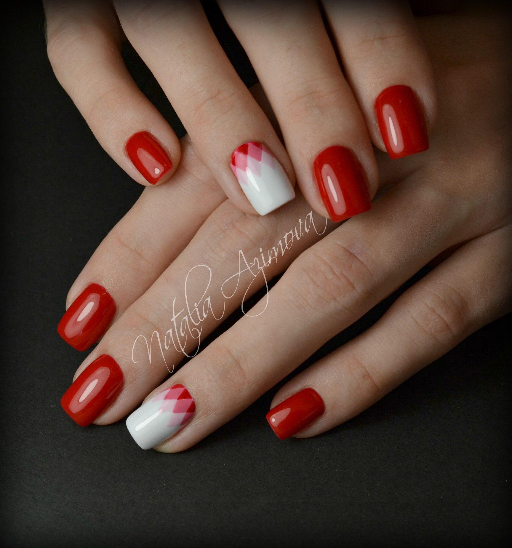 Шикарный красный маникюр (50)