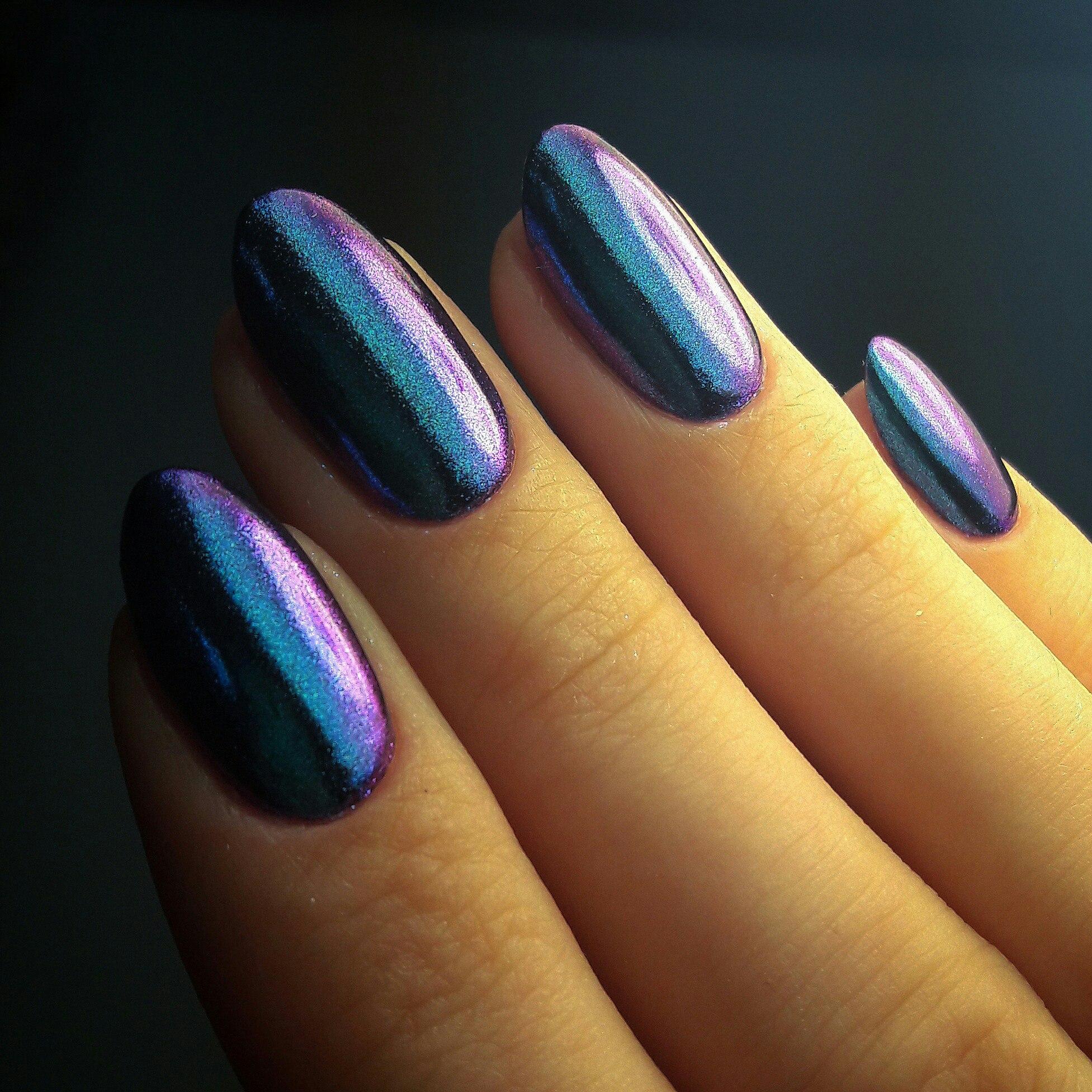 Нарощенные ногти бордовый цвет