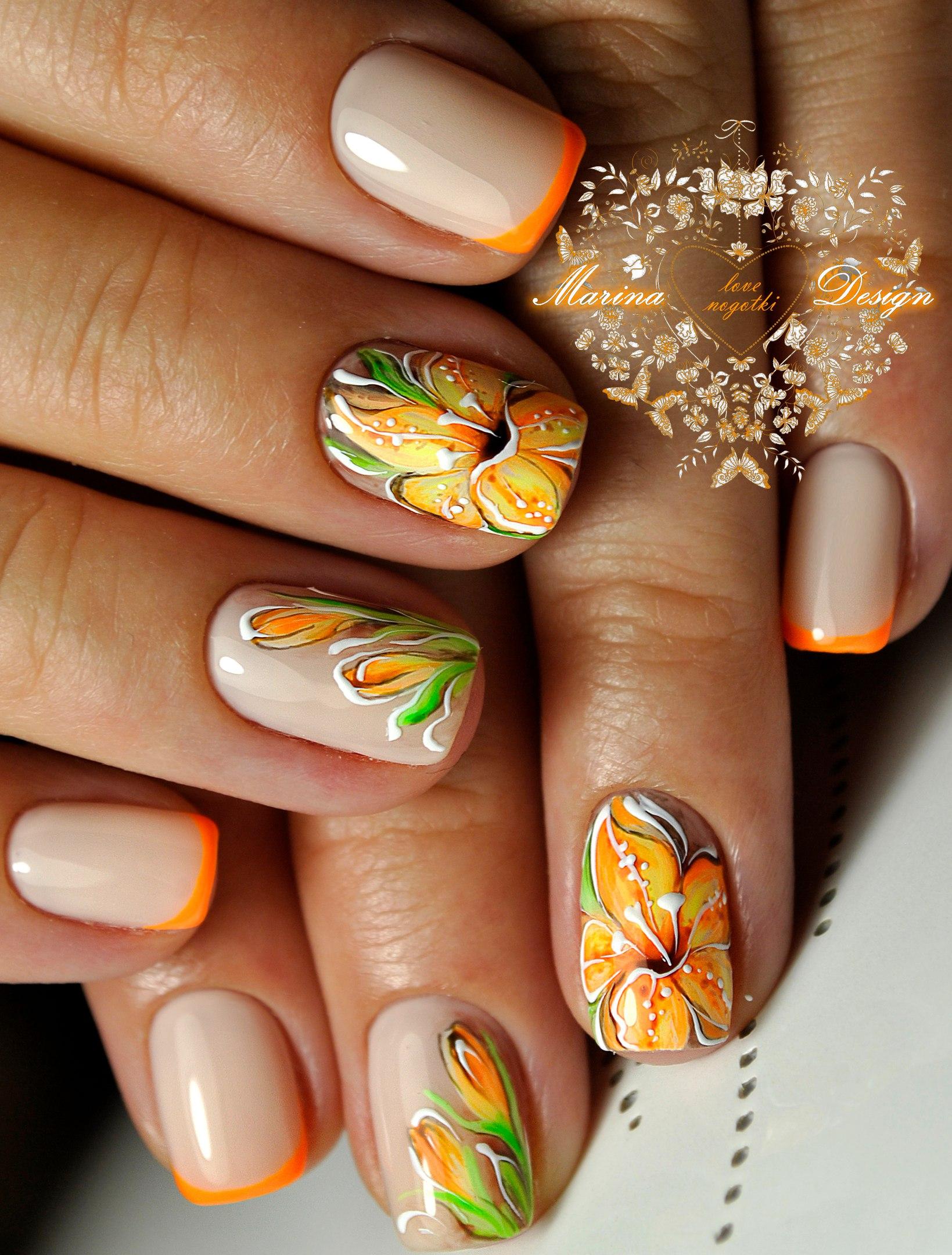 Дизайн ногтей френч со слайдерами фото