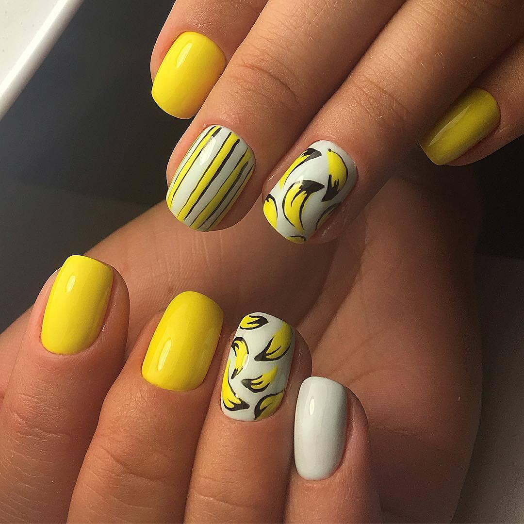 Маникюр лето 2018 модные на короткие ногти фото гель лак