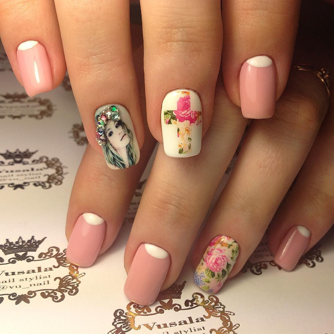Дизайн на средние ногти