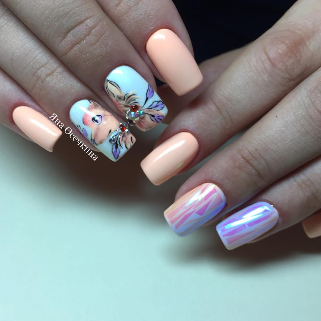 Дизайн стеклянные ногти