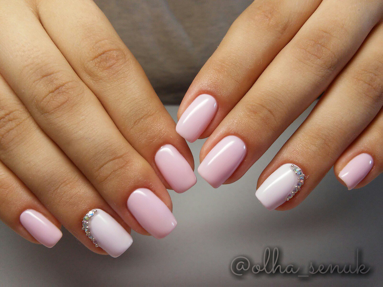 Фото маникюр в розовом цвете