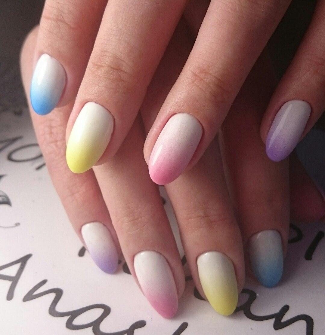 Дизайн ногтей в стиле омбре