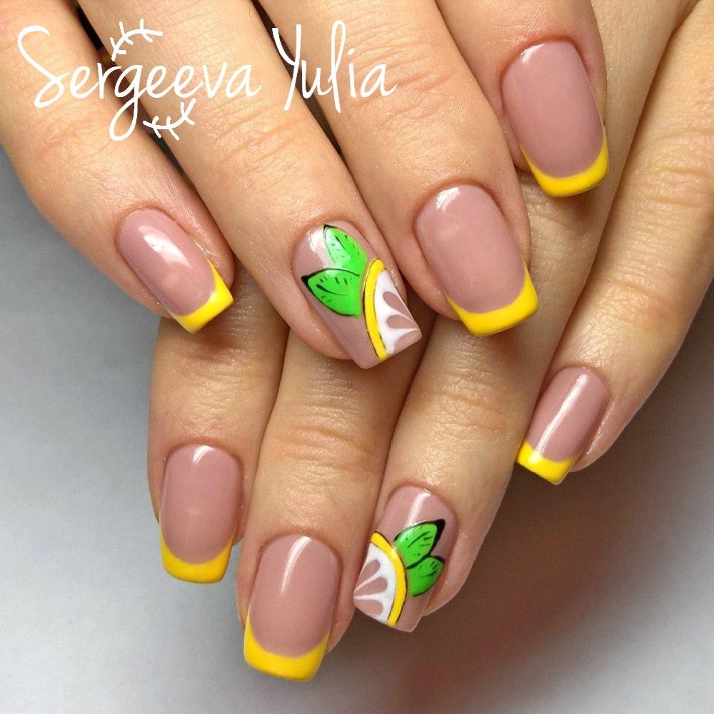 Ногти френч летние