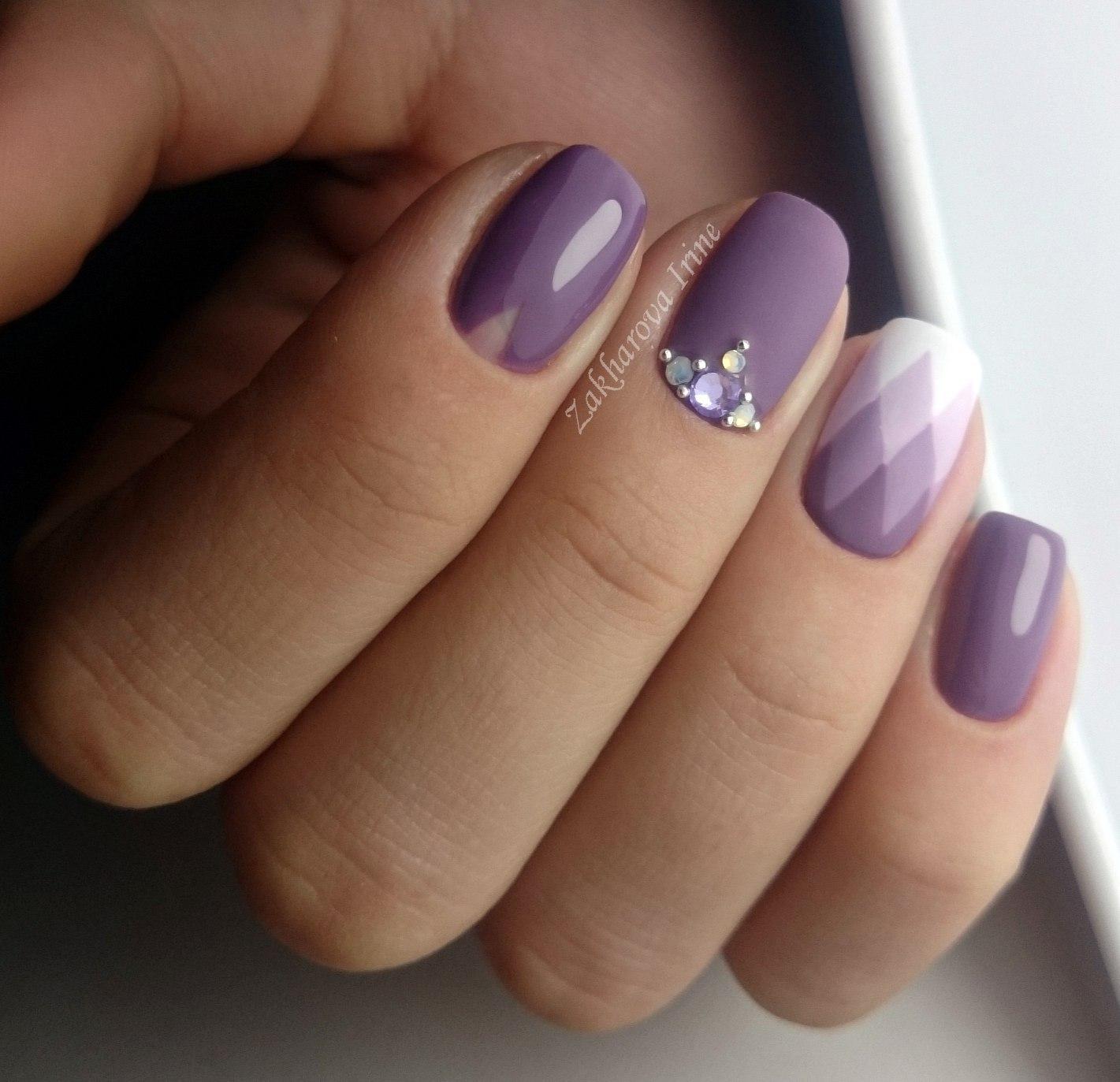 Свадебные рисунки на ногтях френч 19