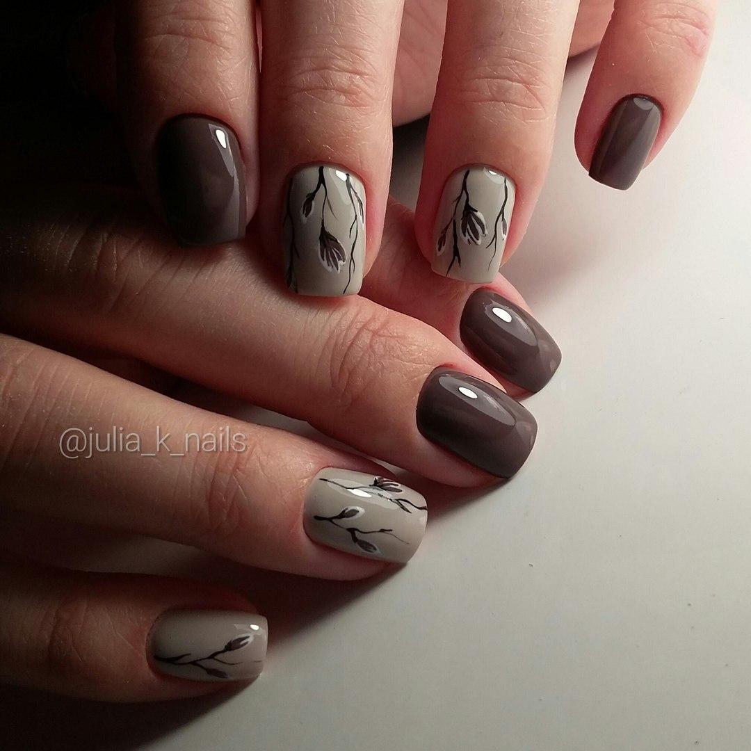 Однотонный маникюр на короткие ногти дизайн