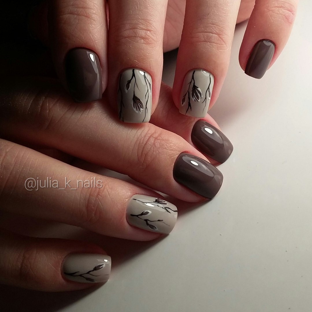 Однотонный маникюр фото на короткие ногти фото