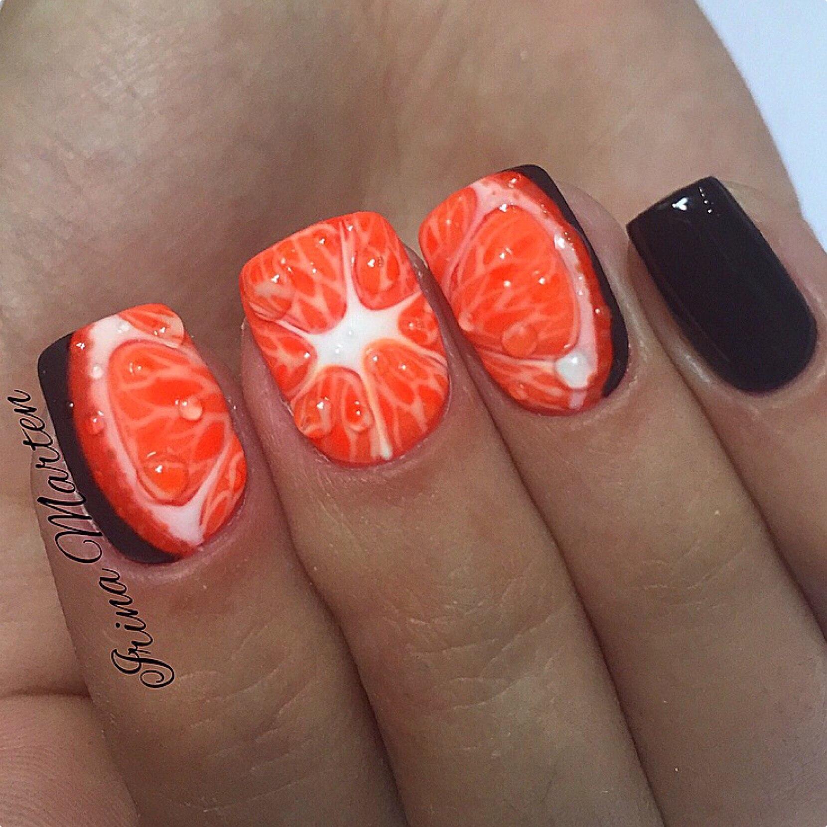 Дизайн ногтей бордовый цвет острые 55