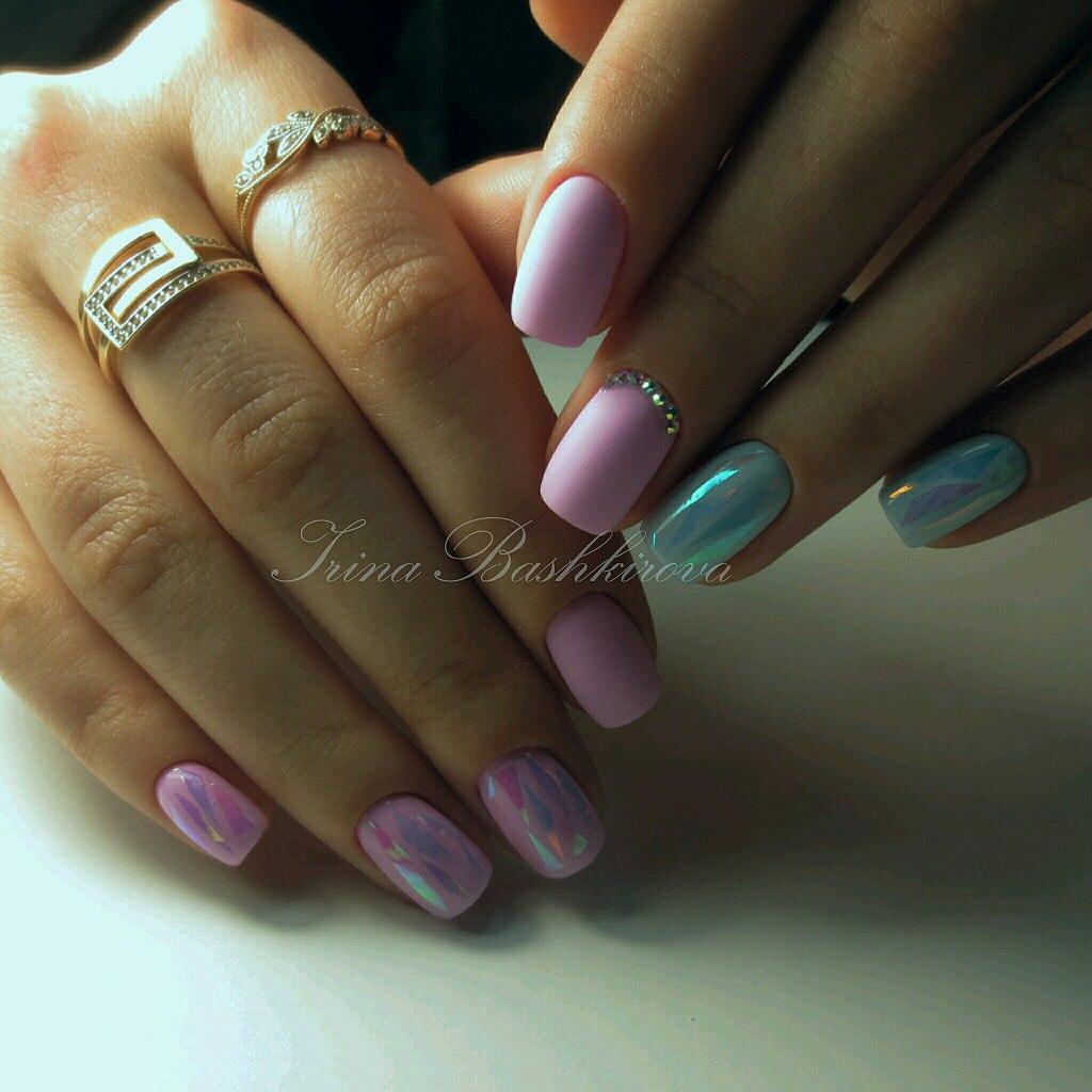 Геометрические рисунки на ногти фото