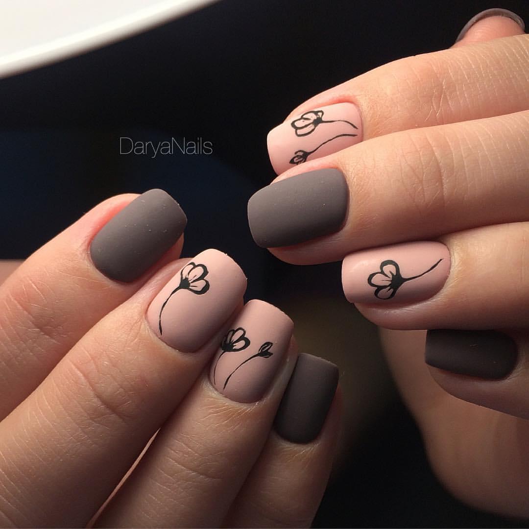Квадратные короткие ногти дизайн 2018 гель лак