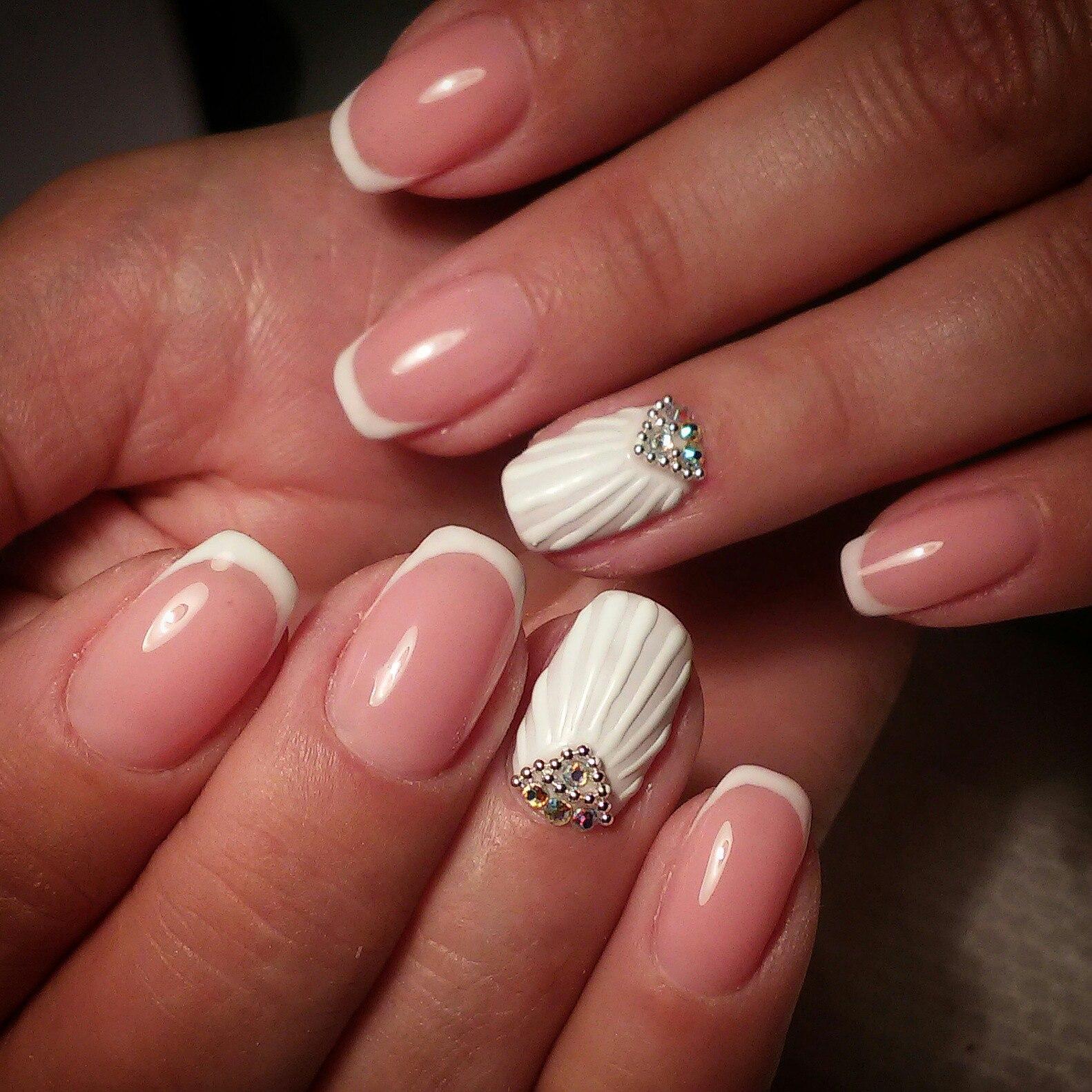 Дизайн «Ракушки» на ногтях гель-лаком 61