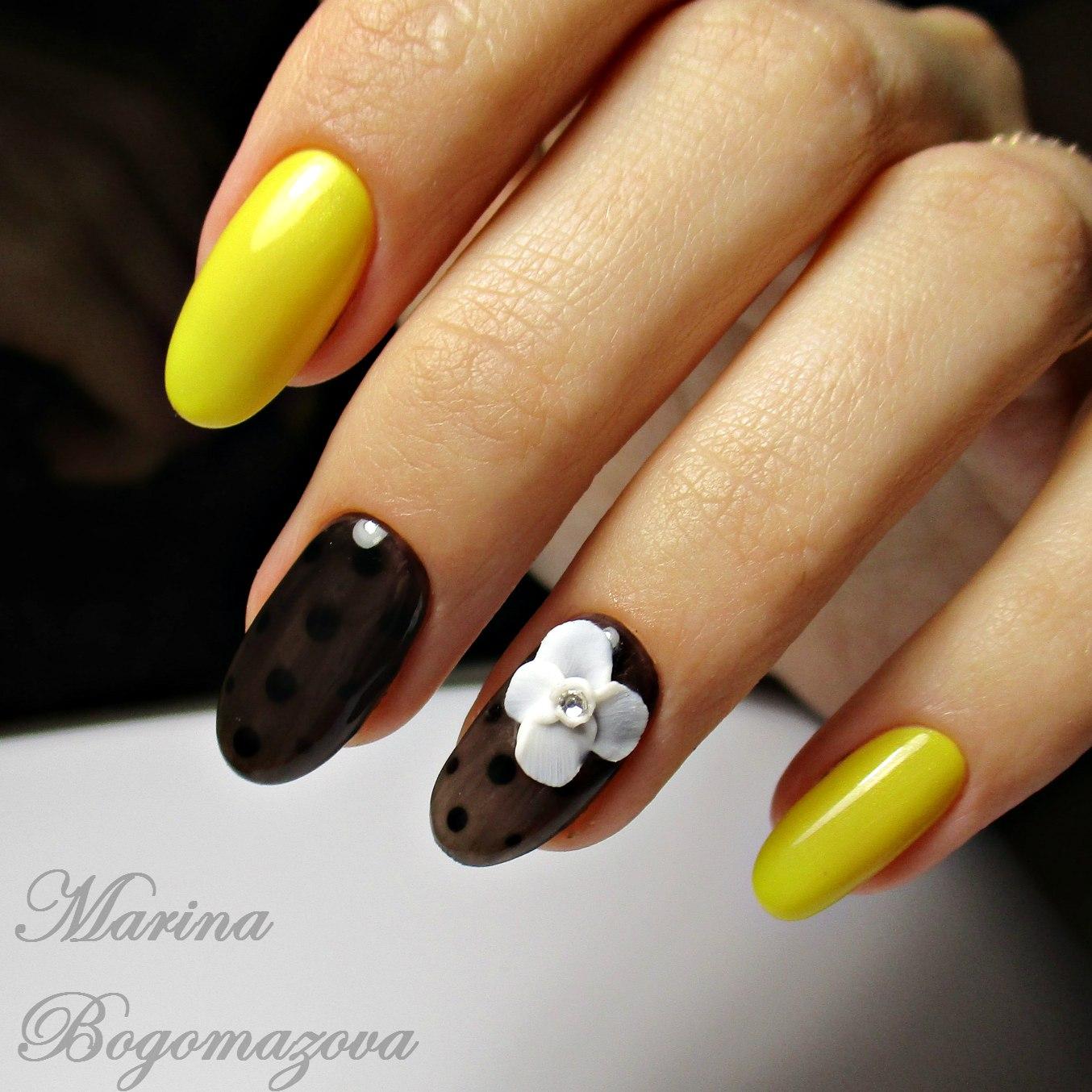 Идеи яркого маникюра на длинные ногти