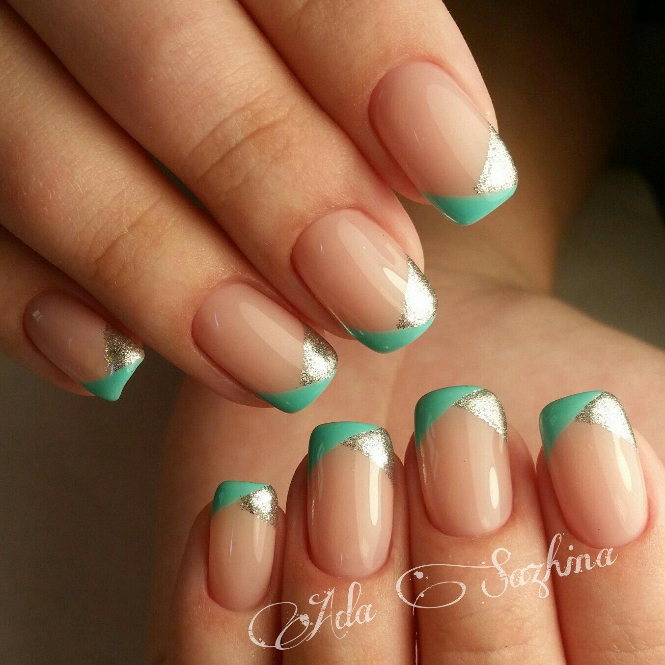 Фото квадратных коротких нарощенных ногтей