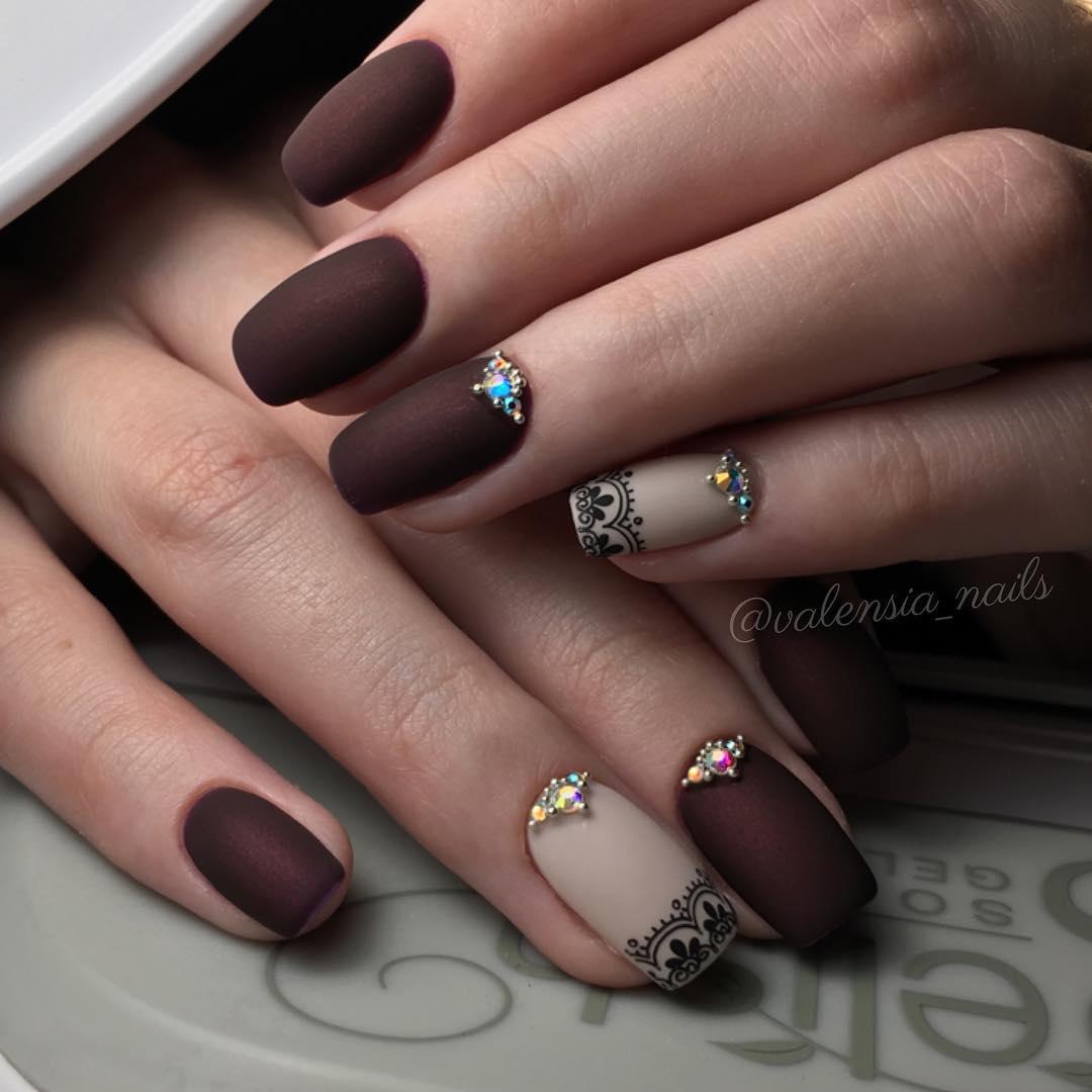 Маникюр на длинные ногти (39 фото идеи красивого дизайна 2018 на) 55
