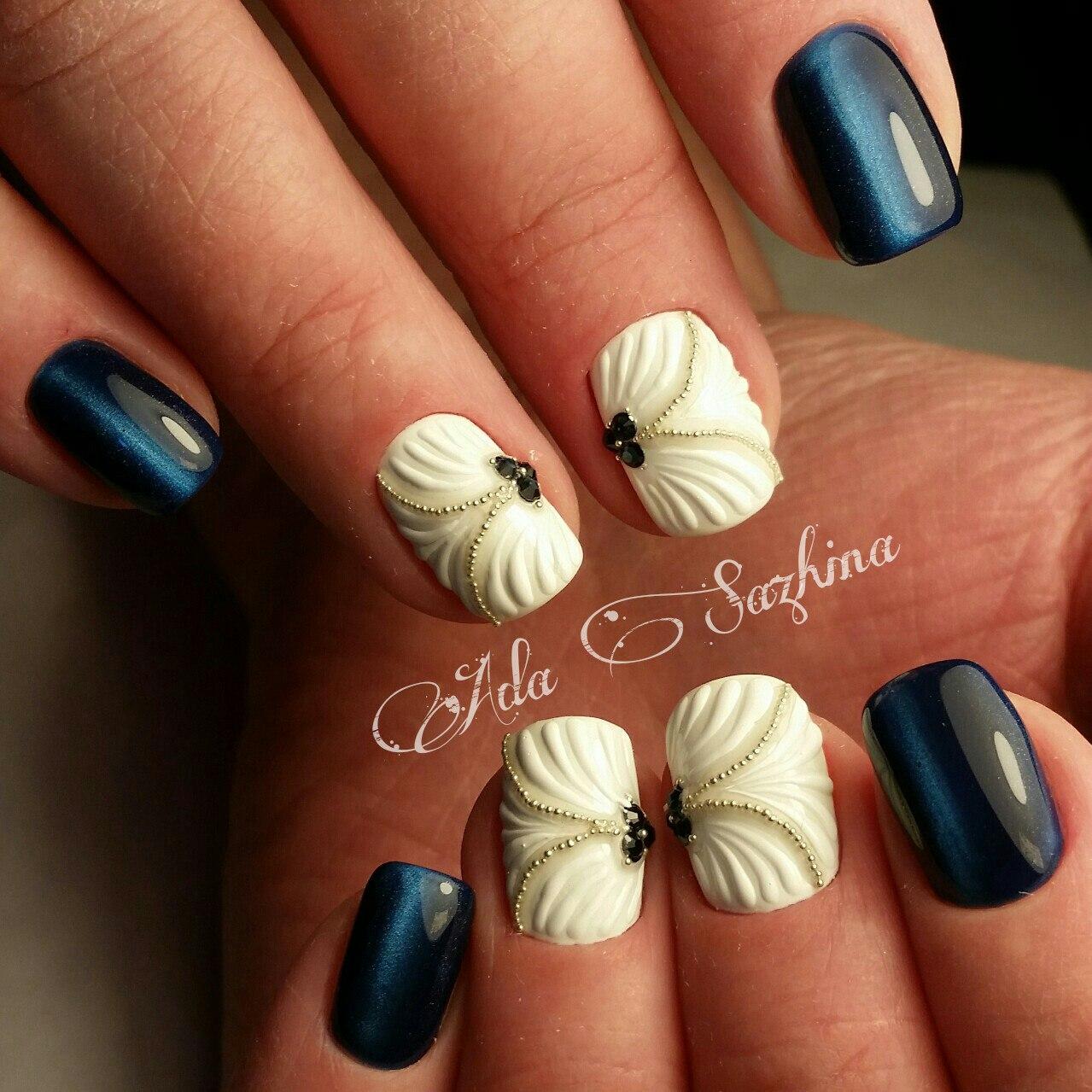 Дизайн «Ракушки» на ногтях гель-лаком 91