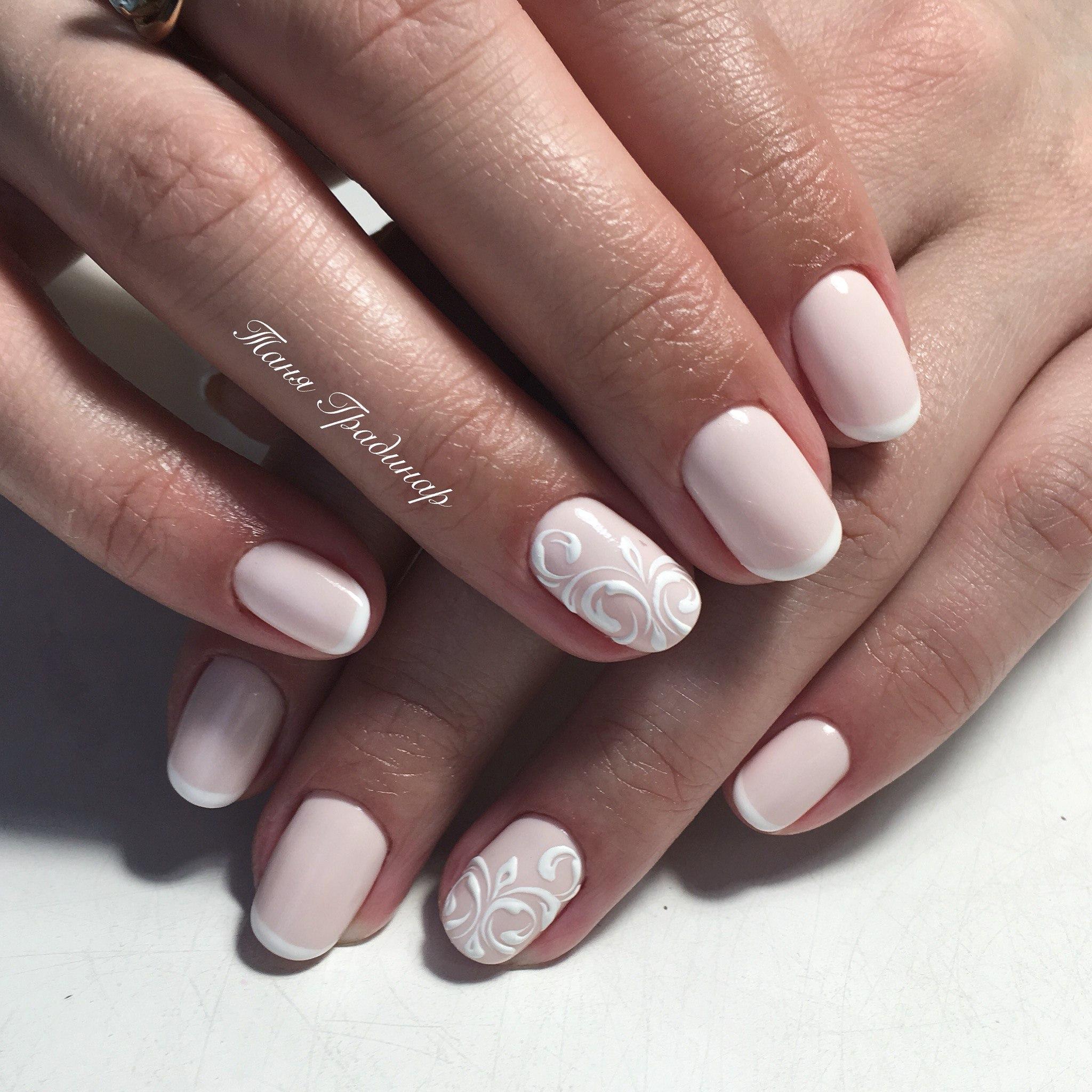 Короткие овальные ногти дизайн