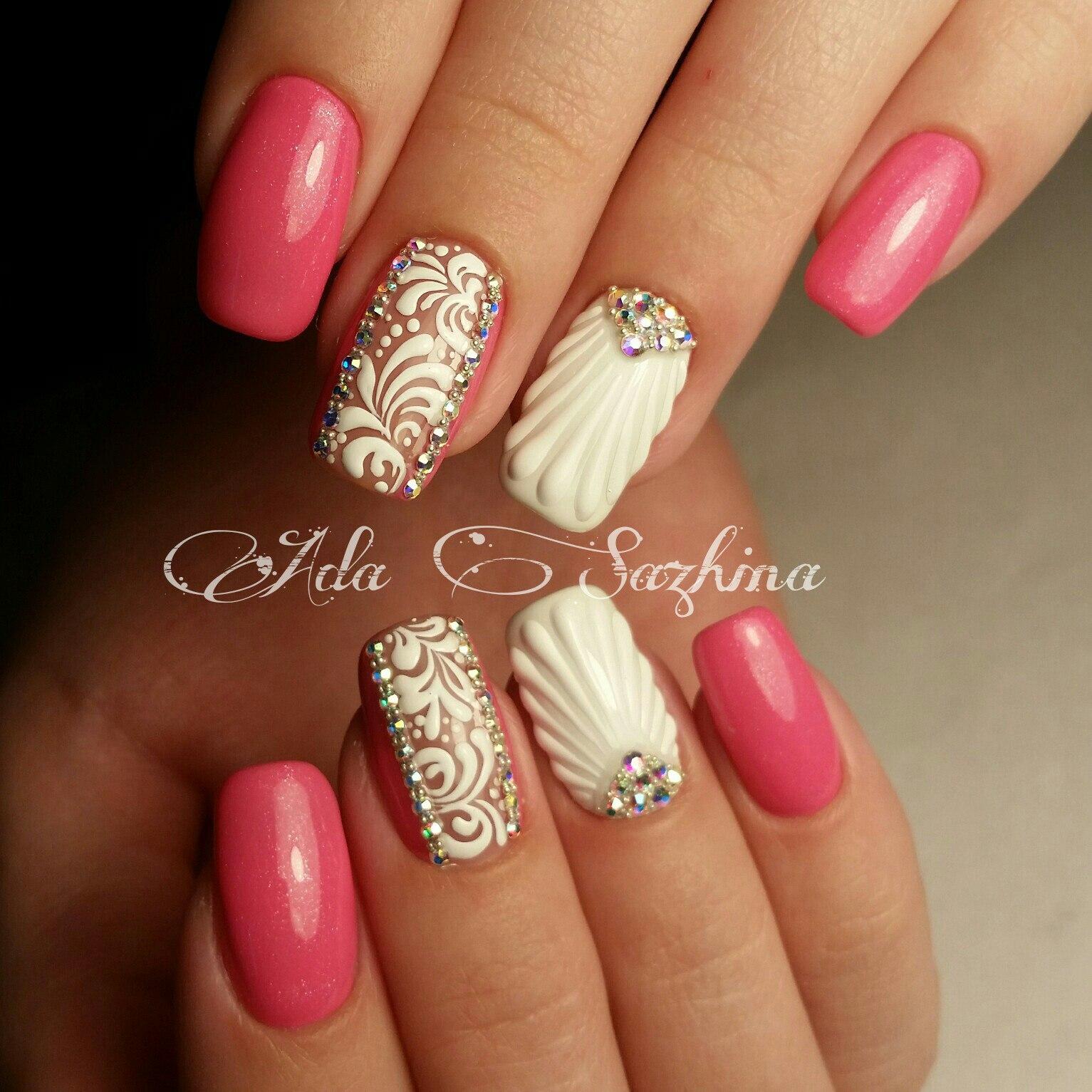 Дизайн «Ракушки» на ногтях гель-лаком
