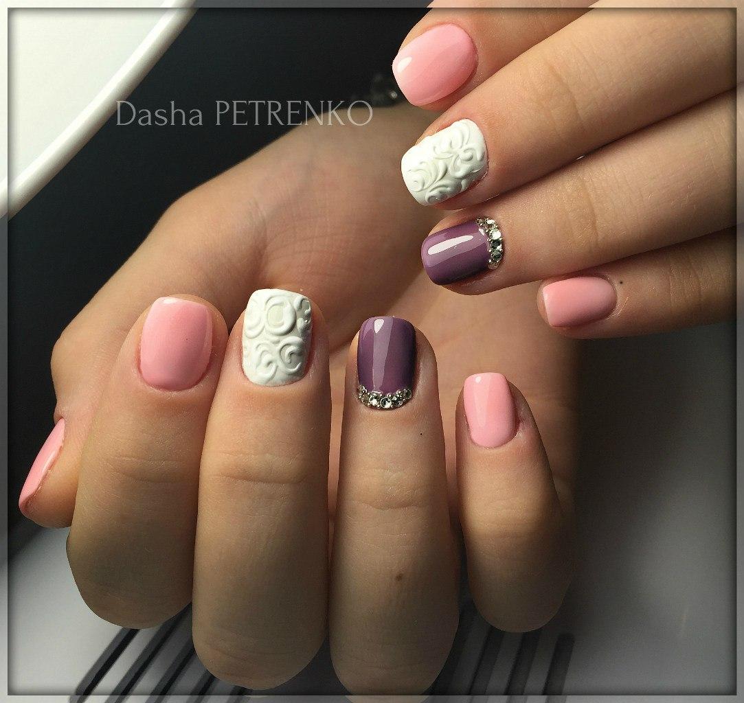 Дизайн «Ракушки» на ногтях гель-лаком 73