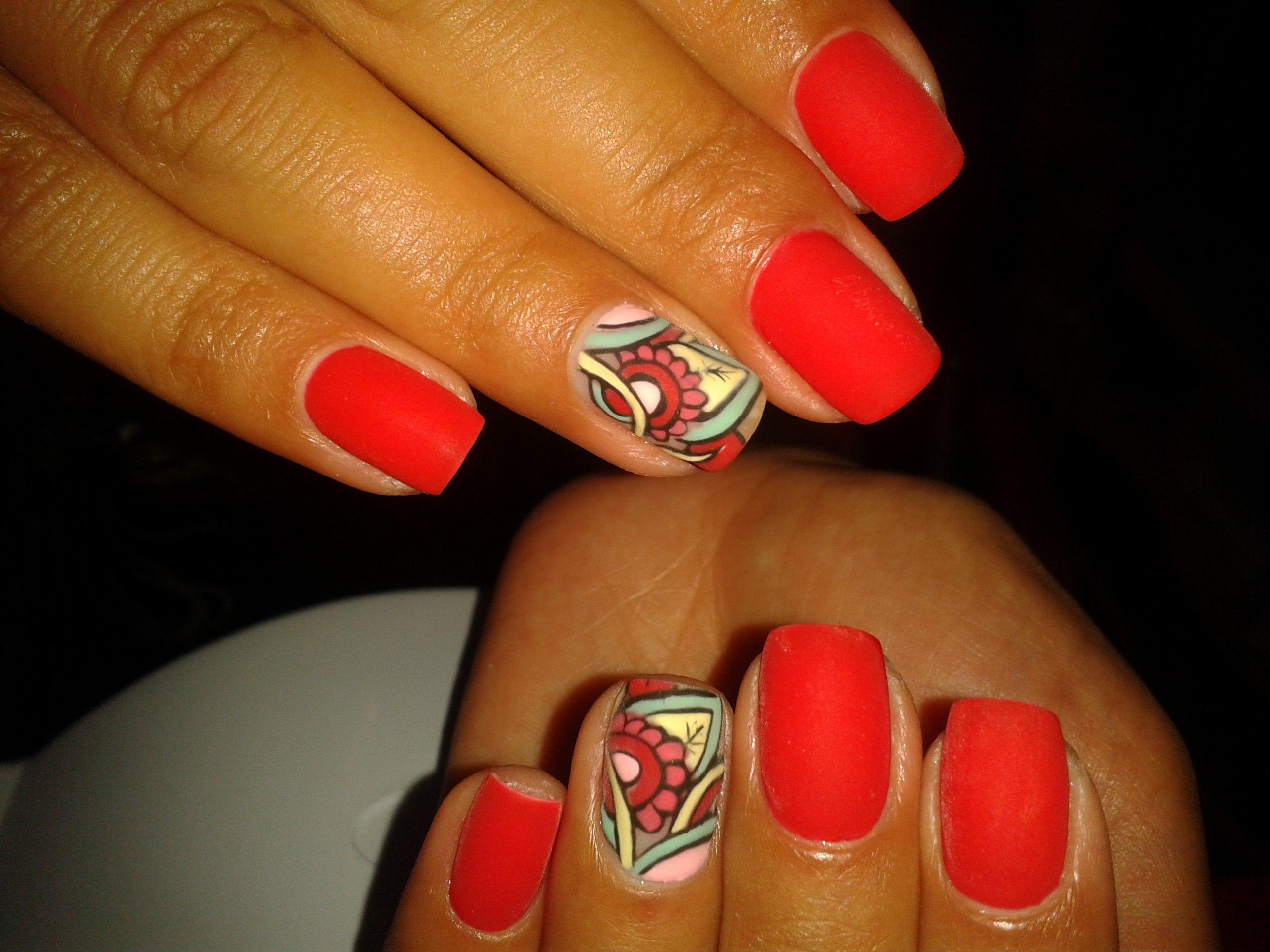 Дизайн ногтей с квадратами