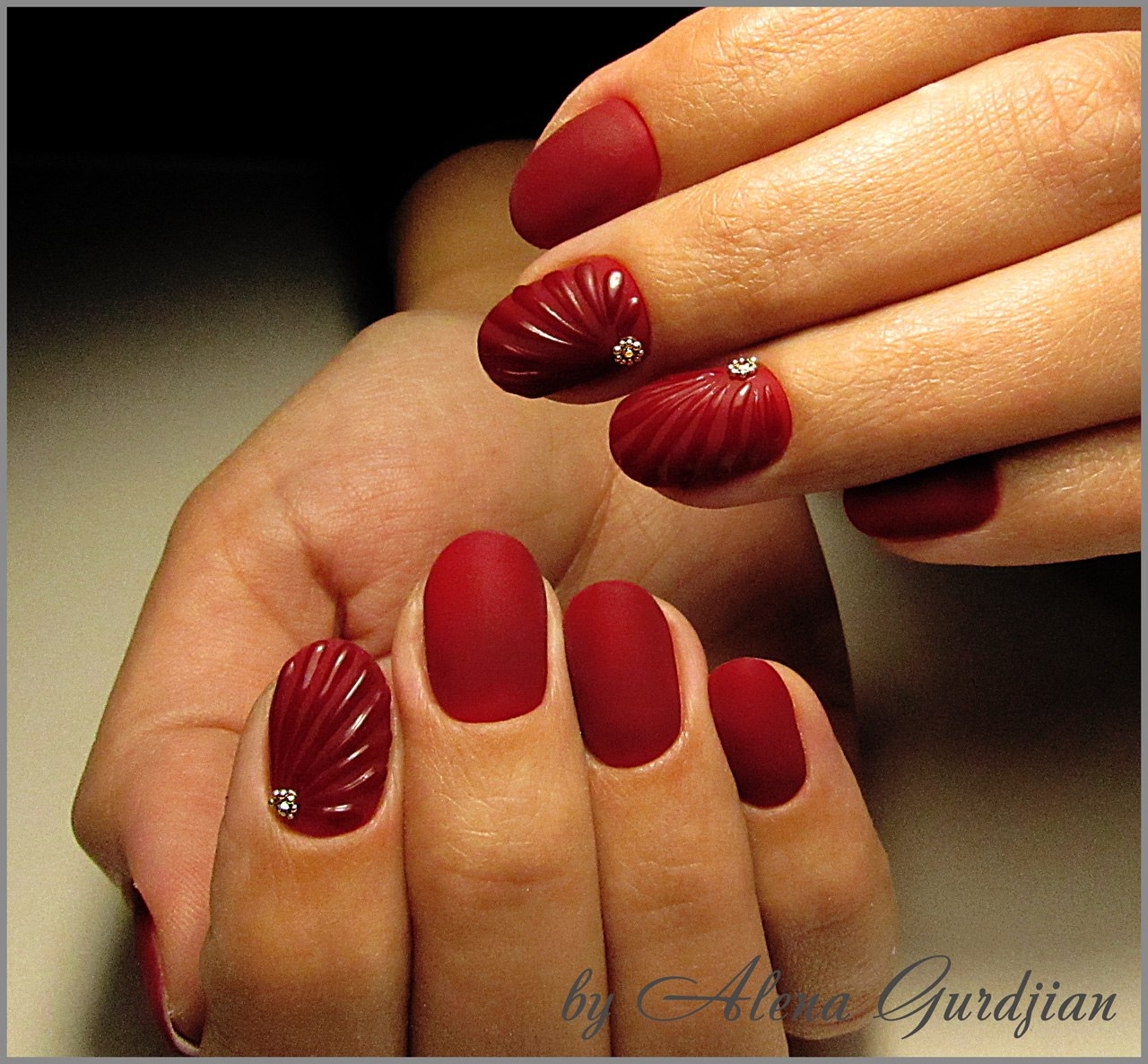 Дизайн «Ракушки» на ногтях гель-лаком 27