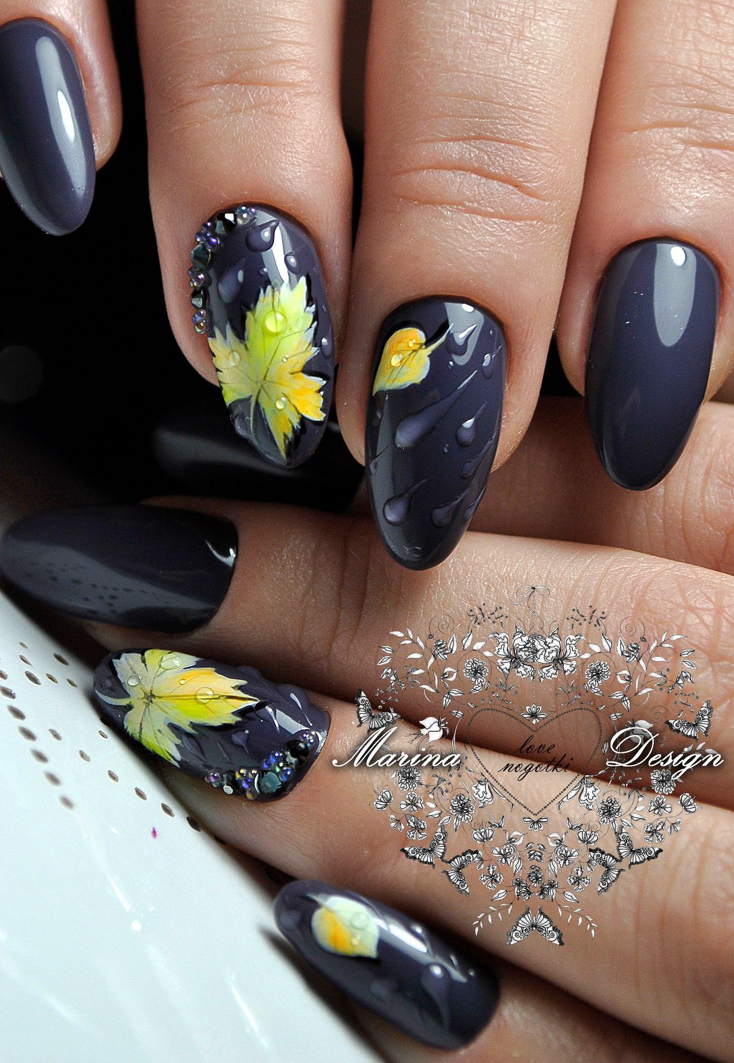 Ногти миндальной формы дизайн крутейшие