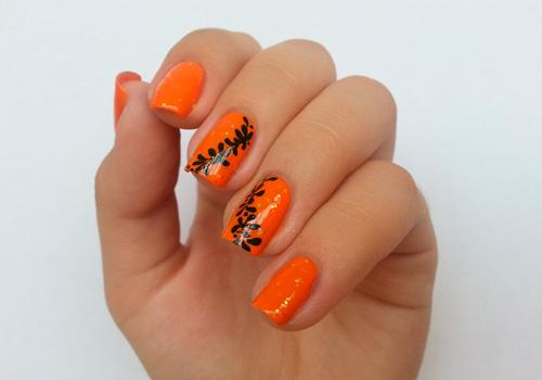 Дизайн ногтей оранжевых