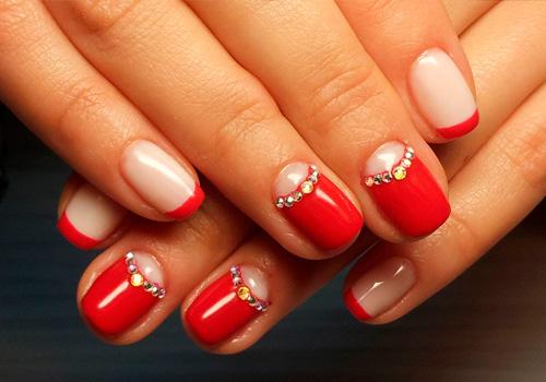 Фото дизайна ногтей красных