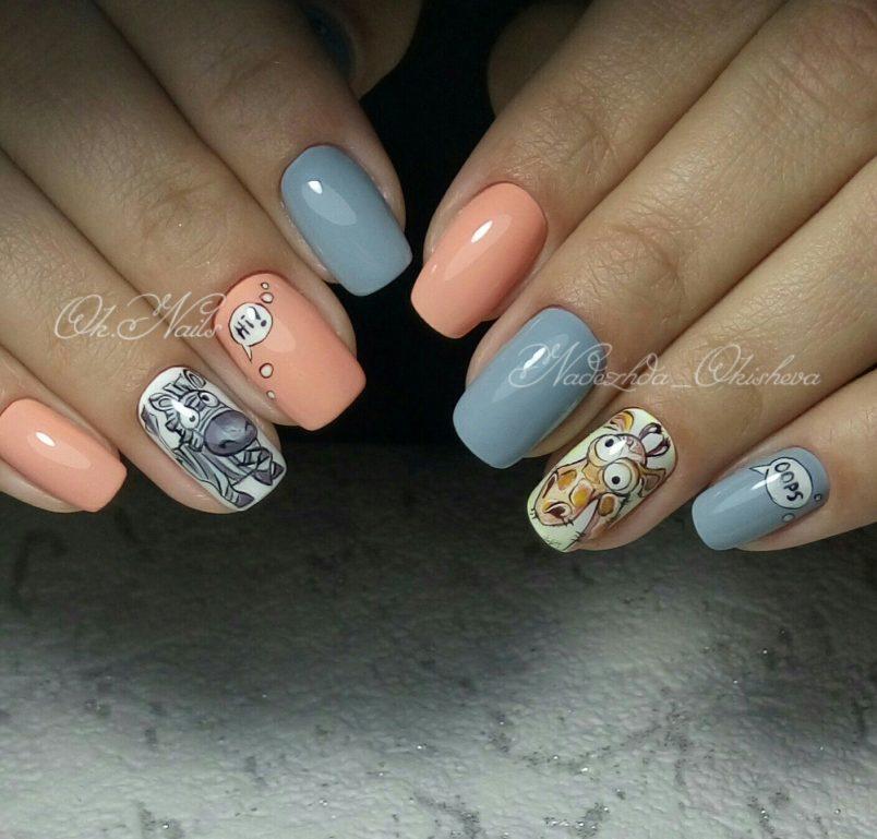Рисунки гель лаком на ногтях: пошагово