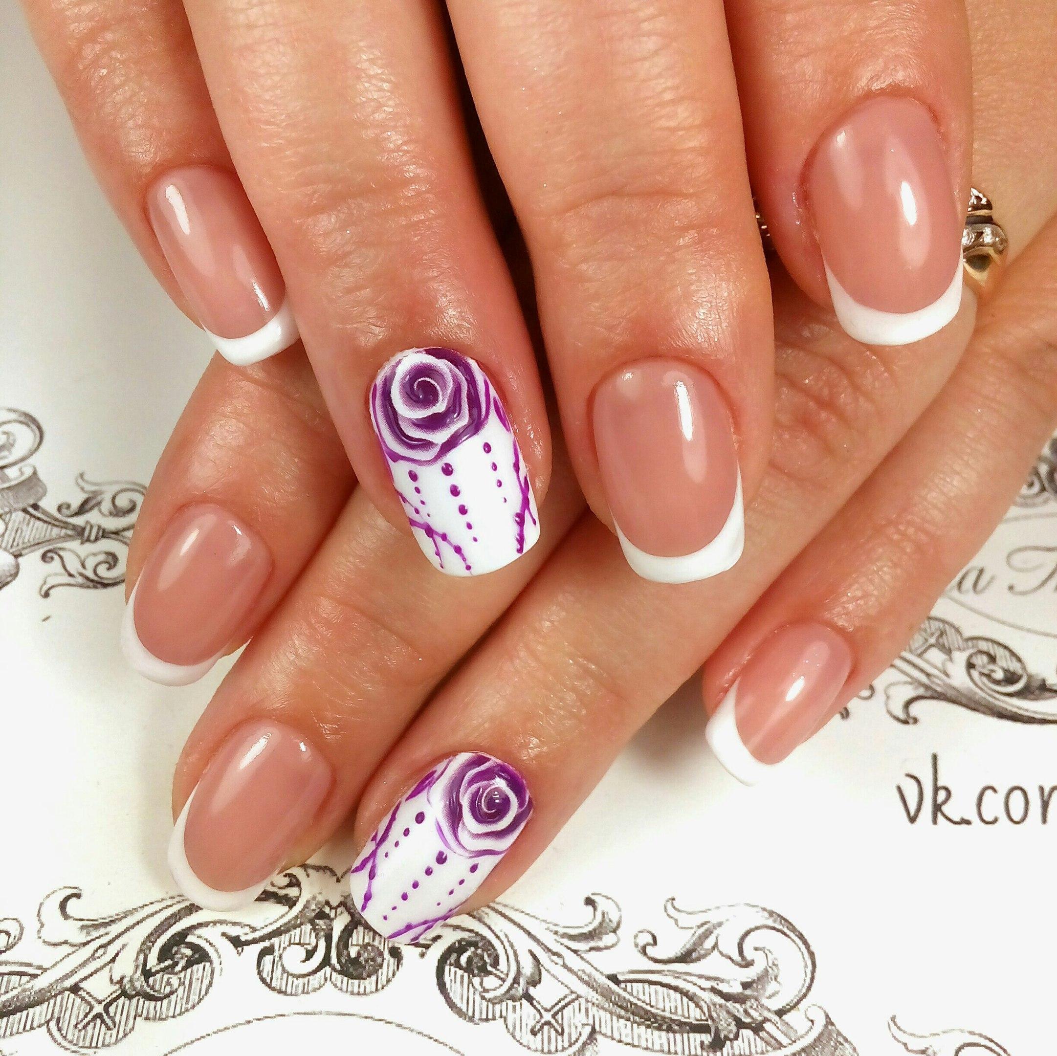 Цвет шеллака на ногтях фото