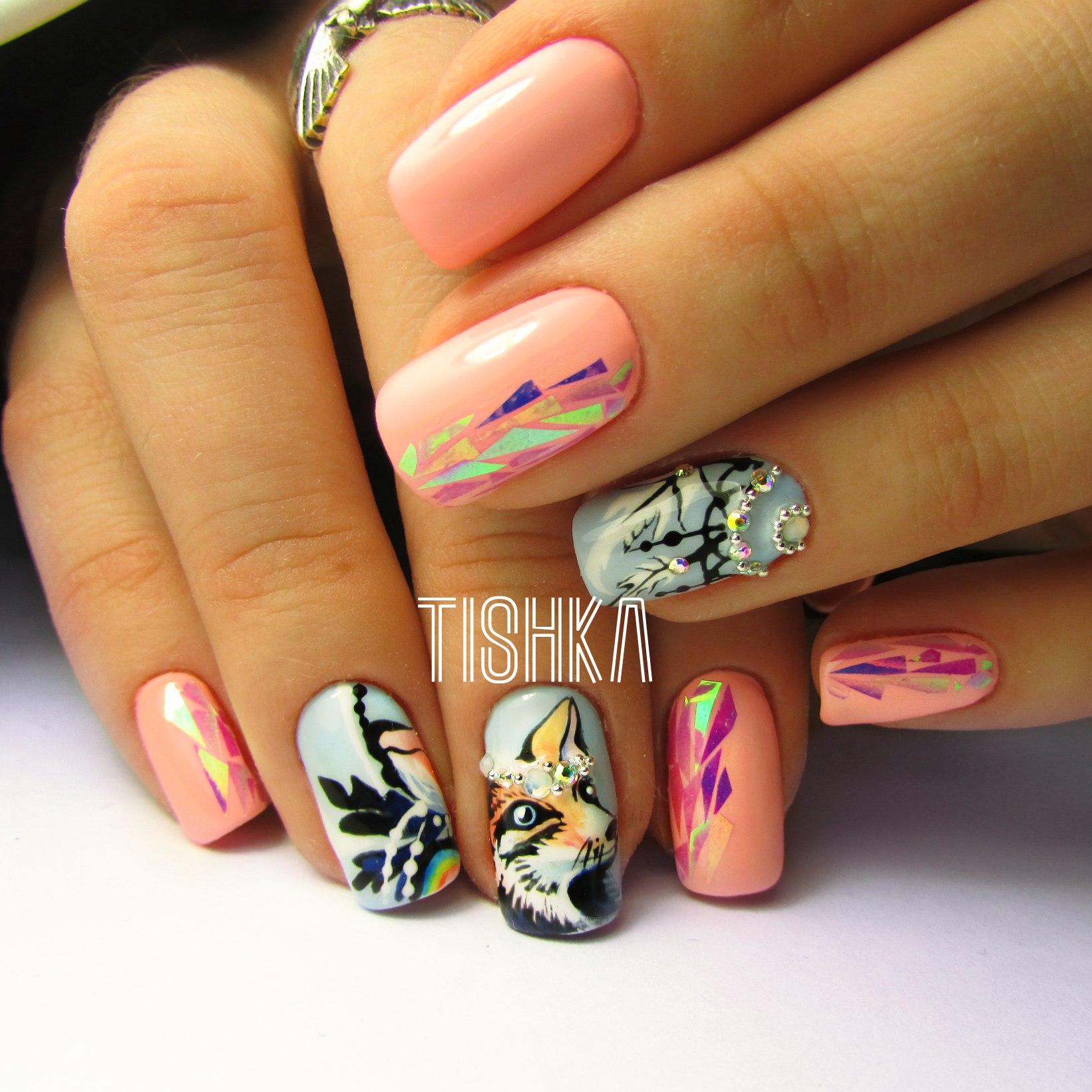 Витражный дизайн ногтей: технология, фото, советы