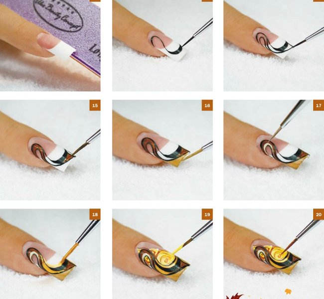 Как рисовать цветы гель-лаком
