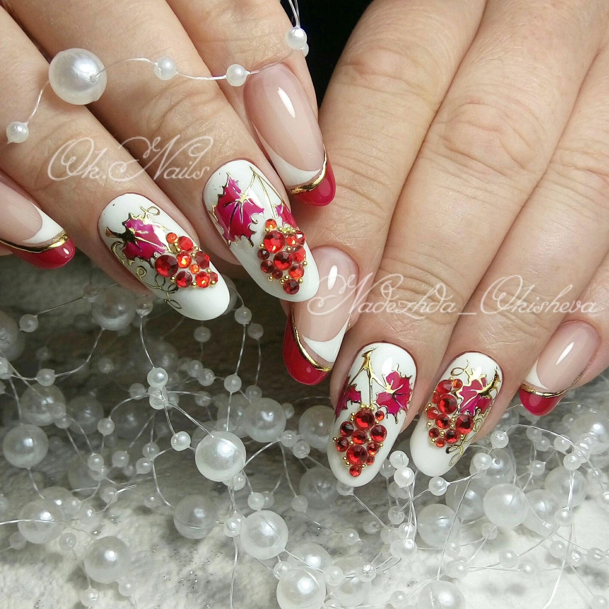 Дизайн ногтей стразами своими руками