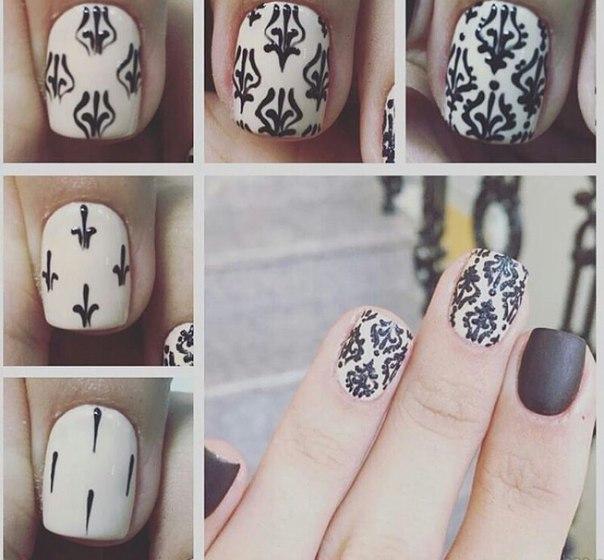 Вензеля на ногтях: фото, видео, как рисовать
