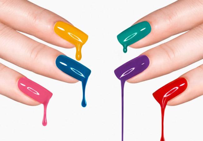 Разноцветный гель-лак