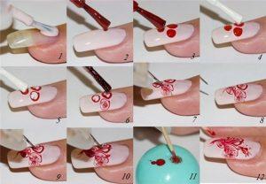 Этапы нанесения гель-лака с рисунками