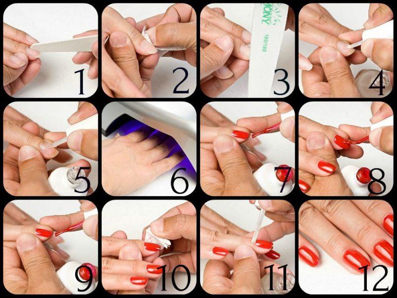 гель-лак на короткие ногти